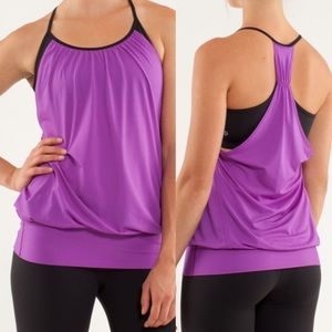 Lululemon No Limits Tank Top: Tender Violet/Black